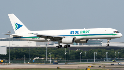 A picture of VTBDO - Boeing 757204(PCF) - Blue Dart Aviation - © zhangmx969