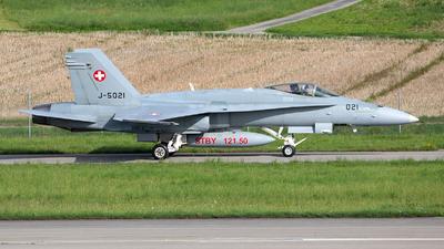 J-5021 - McDonnell Douglas F/A-18C Hornet - Switzerland - Air Force