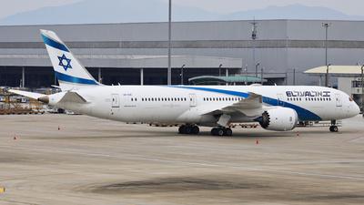 A picture of 4XEDE - Boeing 7879 Dreamliner - El Al - © Fang Xiaoyu