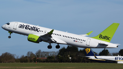 A picture of YLCSN - Airbus A220300 - Air Baltic - © John Fitzpatrick