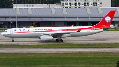 A picture of B8589 - Airbus A330343 - Sichuan Airlines - © zzy020213