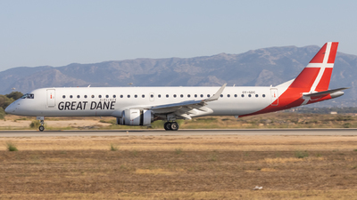 A picture of OYGDC - Embraer E195LR - Great Dane Airlines - © Alewx