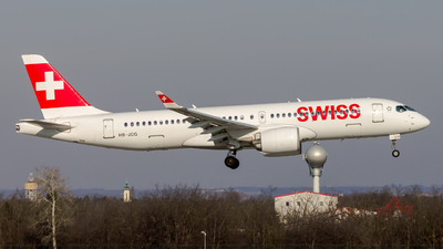 A picture of HBJCG - Airbus A220300 - Swiss - © Peter Tolnai