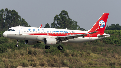 A picture of B1665 - Airbus A320214 - Sichuan Airlines - © Jeff Tang