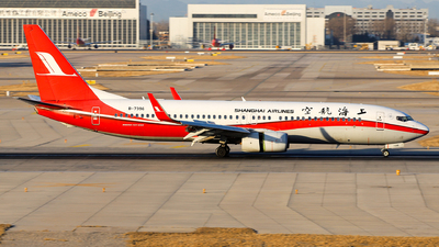 A picture of B7396 - Boeing 73789P - Shanghai Airlines - © Unbeliverpool