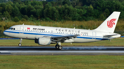 A picture of B6223 - Airbus A319115 - Air China - © F3E1988