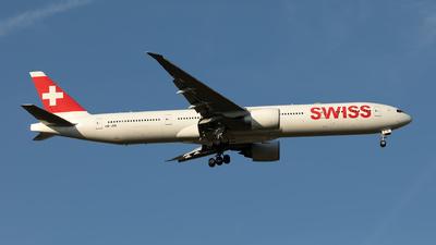 A picture of HBJNE - Boeing 7773DE(ER) - Swiss - © Hanjo Schrenk