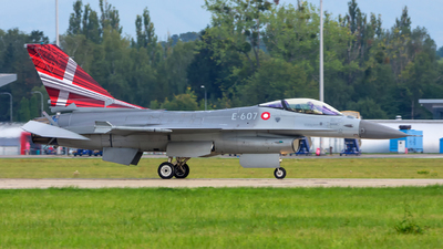 E-607 - General Dynamics F-16AM Fighting Falcon - Denmark - Air Force