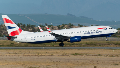 ZS-ZWV - Boeing 737-8K5 - British Airways (Comair)