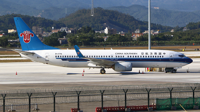 A picture of B1776 - Boeing 73781B - China Southern Airlines - © Zihao Wang ~ AHaoo