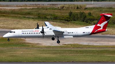 A picture of VHQOS - De Havilland Canada Dash 8400 - Qantas - © Nicholas Kimura