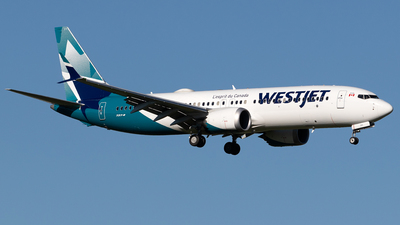 A picture of CGAMQ - Boeing 737 MAX 8 - WestJet - © Mike MacKinnon