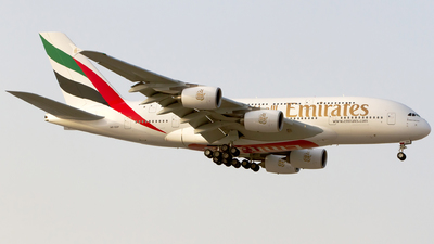 A picture of A6EOP - Airbus A380861 - Emirates - © M. Azizul Islam