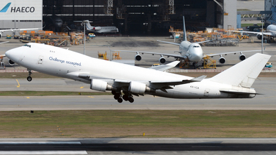 A picture of 4XICA - Boeing 7474EVF(ER) - CAL Cargo Airlines - © Alvin Ho - AHKGAP