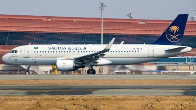 A picture of HZAS74 - Airbus A320214 - Saudia - © Agil Ismail