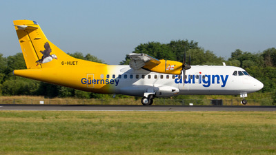 G-HUET - ATR 42-500 - Aurigny Air Services