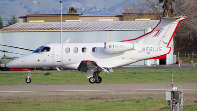 A picture of N581JS - Embraer Phenom 100 - Jetsuite Air - © Jamie West