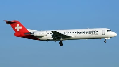 HB-JVG - Fokker 100 - Helvetic Airways