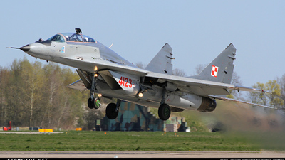 4123 - Mikoyan-Gurevich MiG-29UB Fulcrum - Poland - Air Force