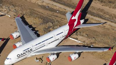 A picture of VHOQA - Airbus A380842 - Qantas - © David Lee