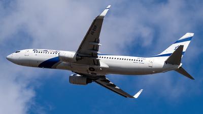 A picture of 4XEKP - Boeing 7378Q8 - El Al - © Kuba Majek