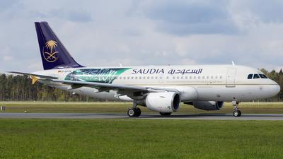 D-APTA - Airbus A319-112 - Saudi Arabian Airlines (Privatair)