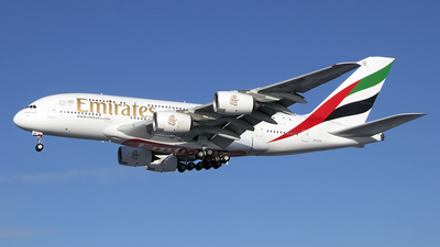 A picture of A6EUR - Airbus A380842 - Emirates - © Paul Spijkers