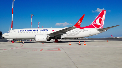 A picture of TCLCC - Boeing 737 MAX 8 - Turkish Airlines - © Deniz Can Biroglu