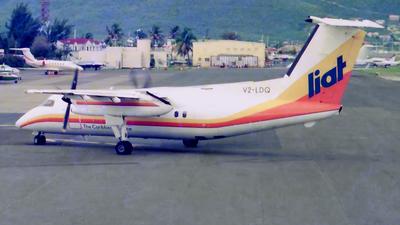 V2-LDQ - Bombardier Dash 8-102 - Leeward Islands Air Transport (LIAT)