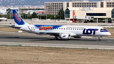 A picture of SPLNB - Embraer E195LR - LOT - © Javier Rodriguez - Amics de Son Sant Joan