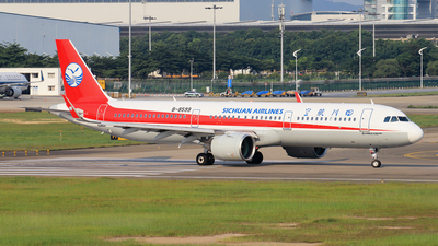A picture of B8599 - Airbus A321271N - Sichuan Airlines - © RuiQi Liang