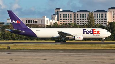 A picture of N111FE - Boeing 767300F(ER) - FedEx - © Angel Natal
