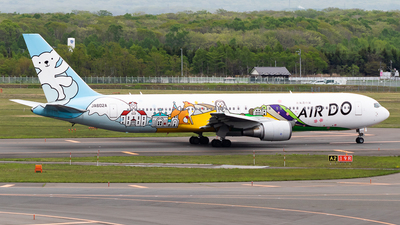 A picture of JA602A - Boeing 767381 - Air Do - © H.Hayashi