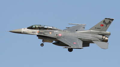 91-0024 - General Dynamics F-16D Fighting Falcon - Turkey - Air Force