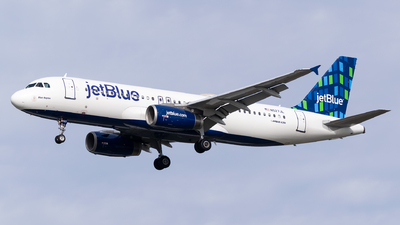 A picture of N527JL - Airbus A320232 - JetBlue Airways - © Evan Dougherty