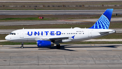 A picture of N877UA - Airbus A319132 - United Airlines - © Rocky Wang