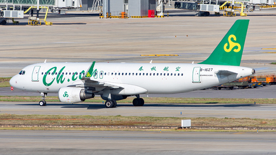A picture of B1627 - Airbus A320214 - Spring Airlines - © Yan Shuai