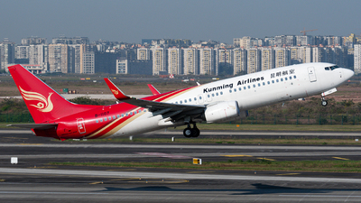 A picture of B1107 - Boeing 7378LY - Kunming Airlines - © Mr.Huang