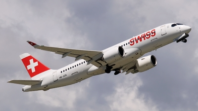 A picture of HBJCA - Airbus A220300 - Swiss - © AirBusAl