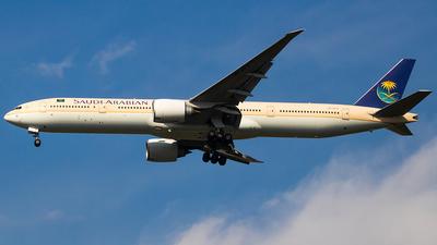 A picture of HZAK12 - Boeing 777368(ER) - Saudia - © Hamza A. Mughal