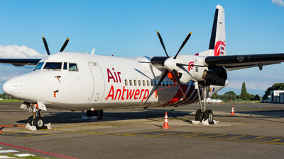 A picture of OOVLS - Fokker 50 - Air Antwerp - © J.Evrard-AirTeamImages
