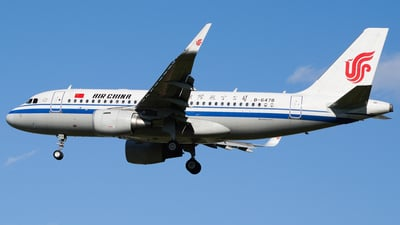 A picture of B6478 - Airbus A319115 - Air China - © CHEN SHUO