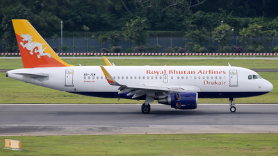 A5-JSW - Airbus A319-115 - Druk Air - Royal Bhutan Airlines