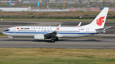 A picture of B5583 - Boeing 73789L - Air China - © YIJING HOU