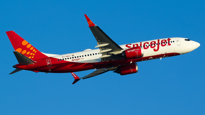 A picture of VTMXJ - Boeing 737 MAX 8 - SpiceJet - © Ni Xin