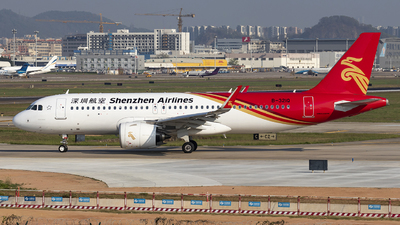 A picture of B321Q - Airbus A320271N - Shenzhen Airlines - © Fuxin Ma