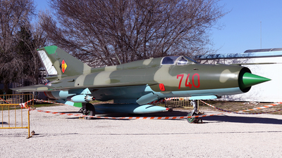 740 - Mikoyan-Gurevich MiG-21SPS Fishbed F - German Democratic Republic - Air Force