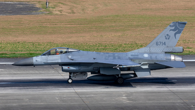 6714 - General Dynamics F-16AM Fighting Falcon - Taiwan - Air Force