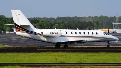 A picture of N341QS - Cessna 680 Citation Sovereign - NetJets - © Agustin Anaya