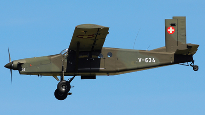 V-634 - Pilatus PC-6/B2-H2 Turbo Porter - Switzerland - Air Force